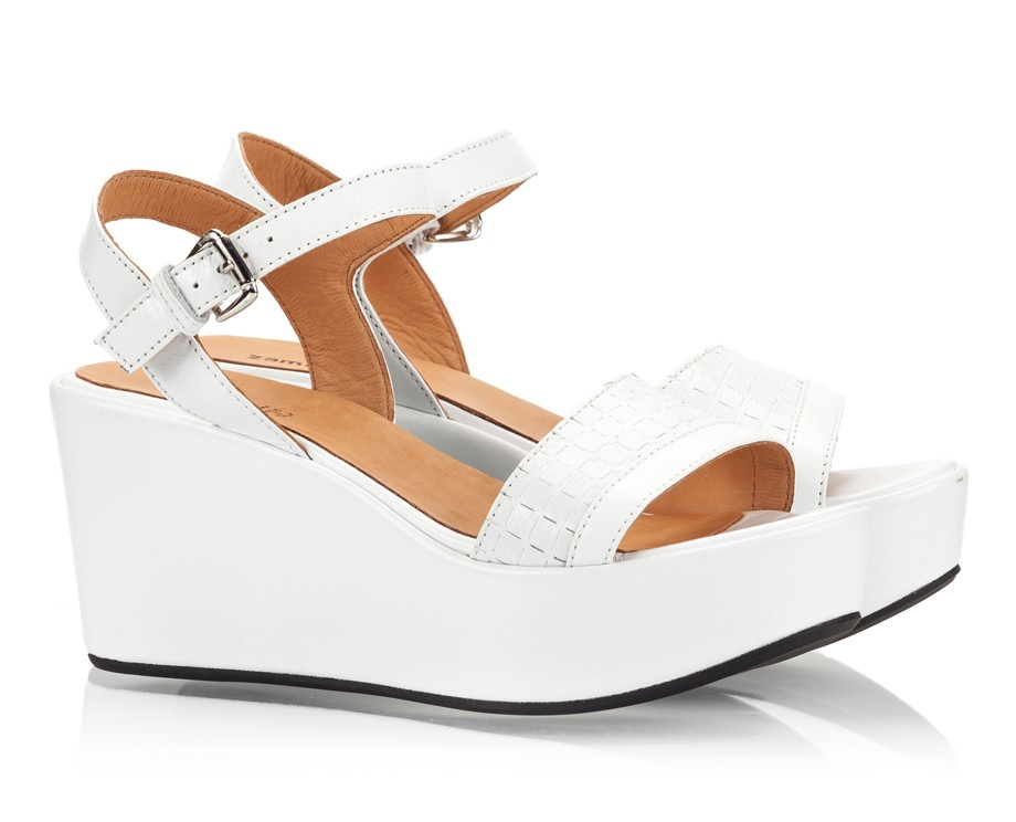 White Wedge Heel Sandals vK4nSsNn
