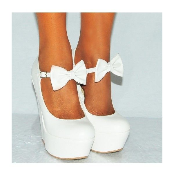 White Wedge Heels o46wwL8h