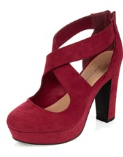 Wide Red Heels J4UACcq0