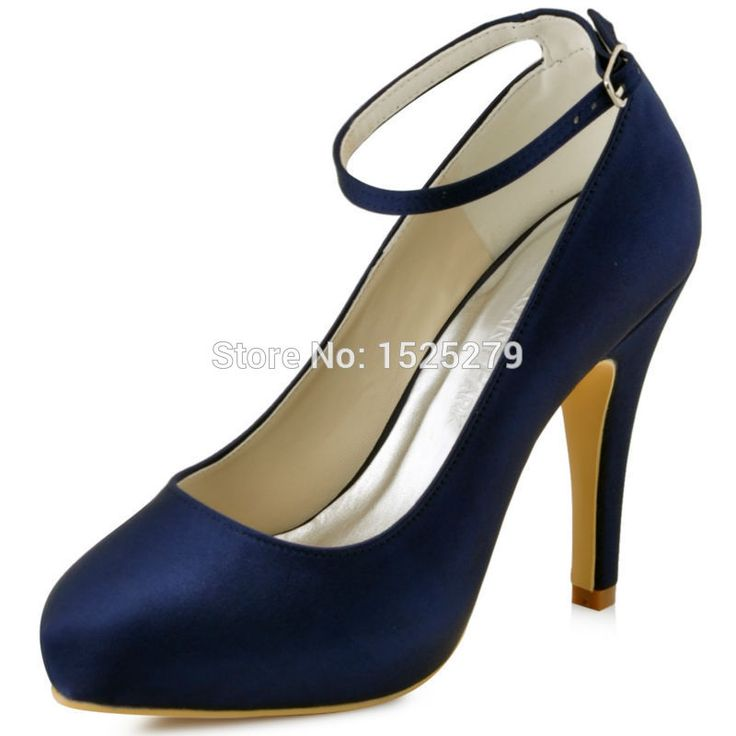 Womens Navy Blue Heels TSmxWtyz