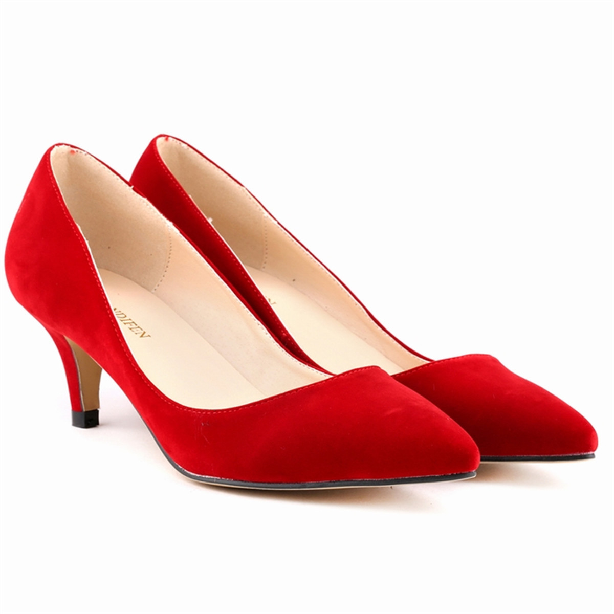 Womens Red Shoes Low Heel 524Y8QAD