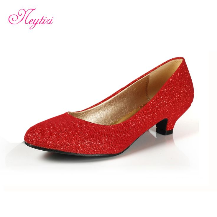 Womens Red Shoes Low Heel K3UMBENA