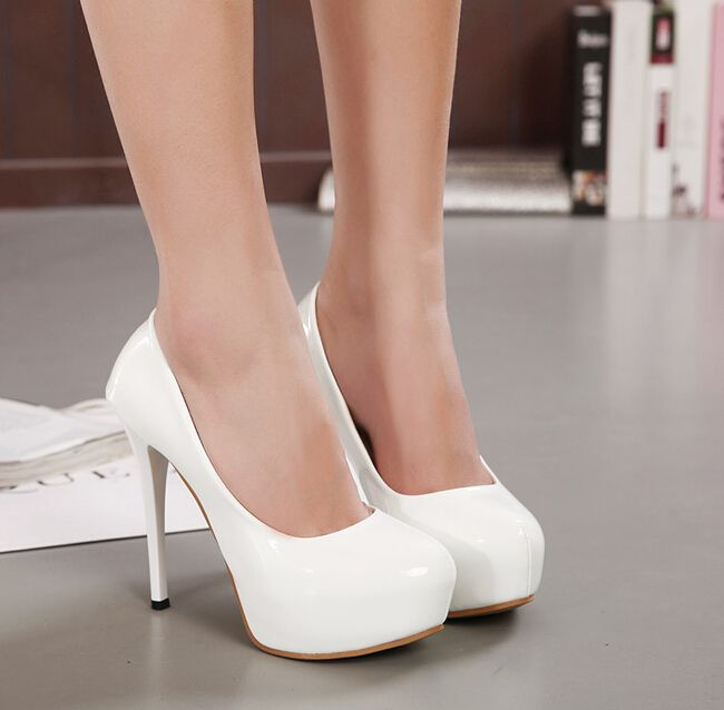 Womens White High Heels 5rwWE2pw