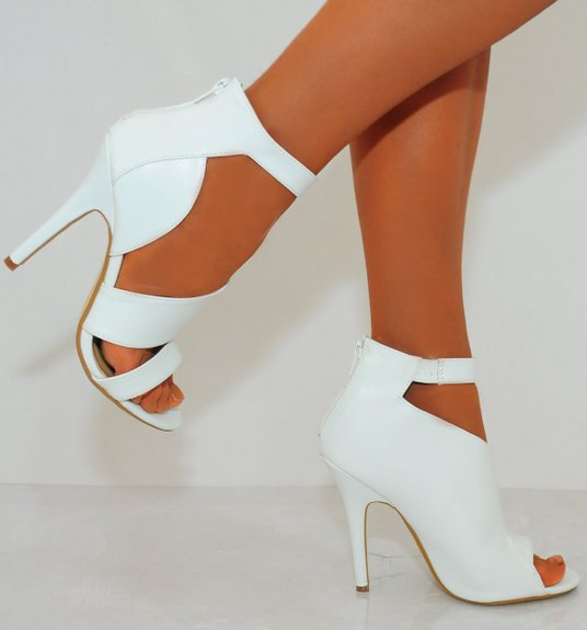 Womens White High Heels 77B75mJm
