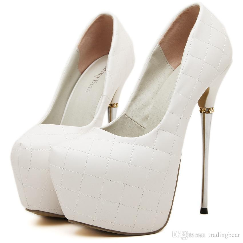 Womens White High Heels 6OTSjnvb