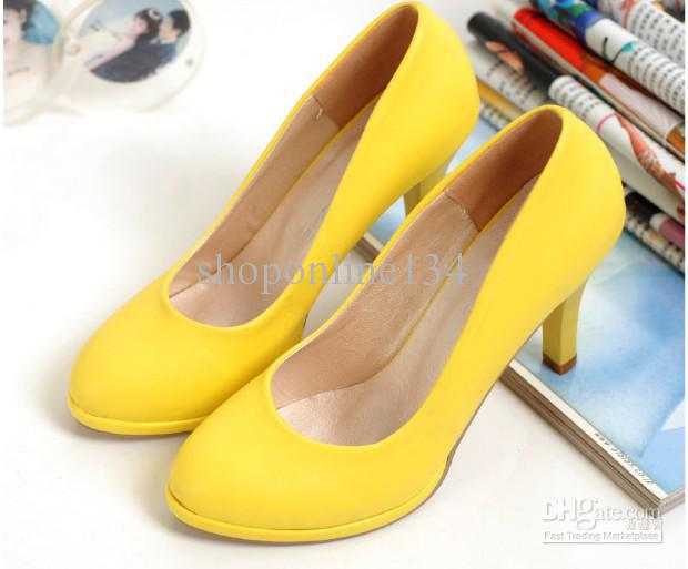 Womens Yellow Heels cjfTVJkU