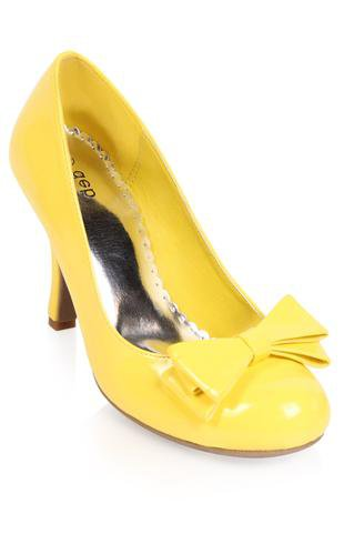 Yellow Heels With Bow 24L31yvk
