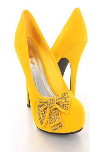Yellow Heels With Bow iQ9xgxT3