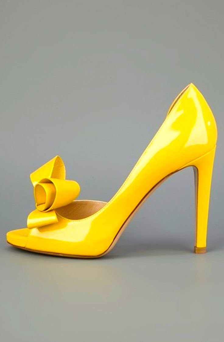 Yellow Heels With Bow jFEIuedE