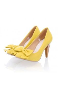 Yellow Heels With Bow hU1drH1X