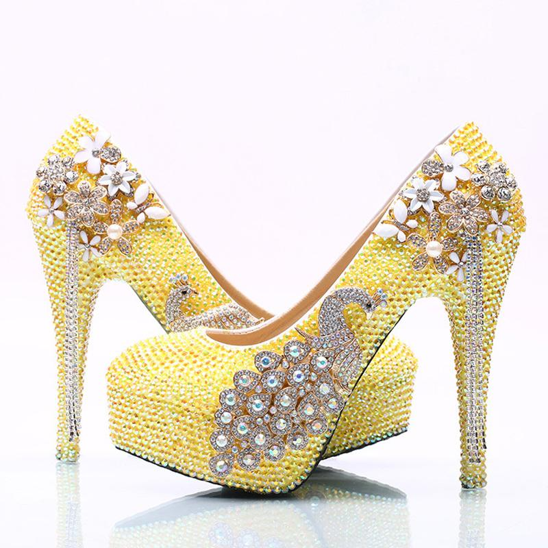 Yellow High Heels For Wedding ADPrOePf