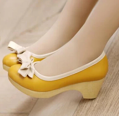 Yellow Low Heel Shoes hll1rdOV