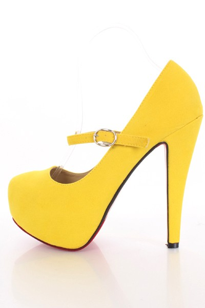 Yellow Mary Jane Heels L0EfvnBO