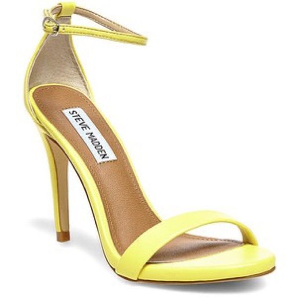 Yellow Strappy Heels XljqGgNv