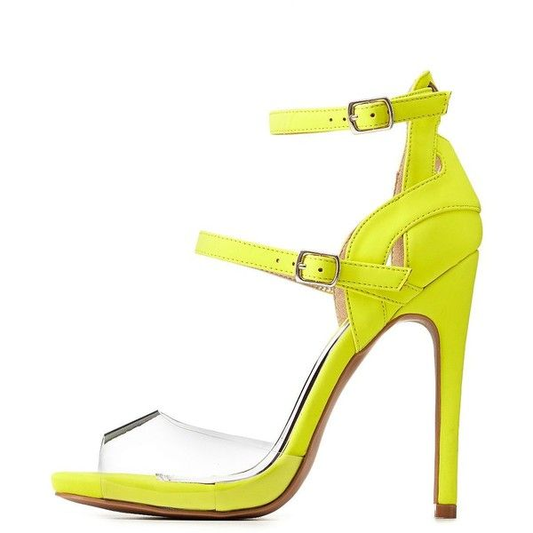 Yellow Strappy Heels lMhZljRI