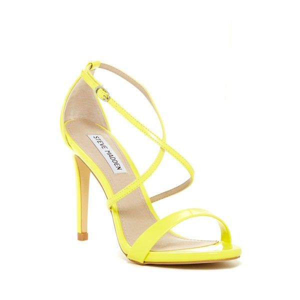 Yellow Strappy Heels NRUTbUhr