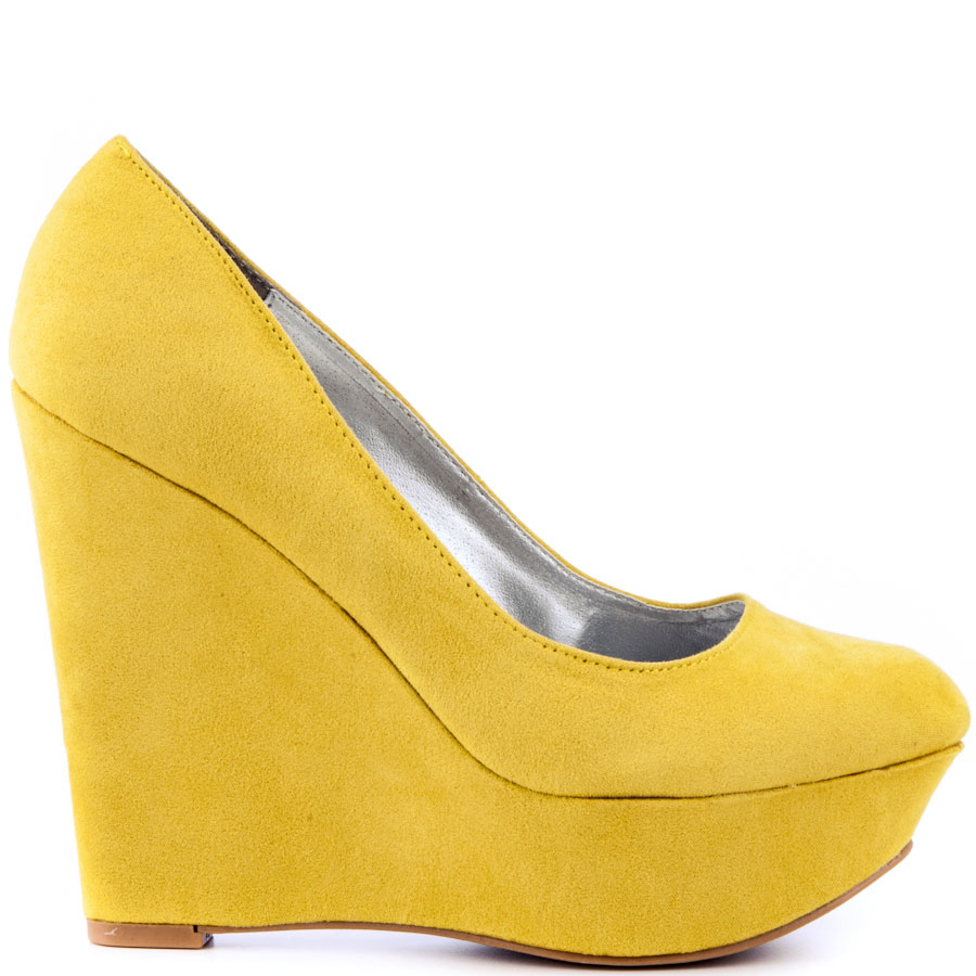 Yellow Wedge Heels vztmuywr