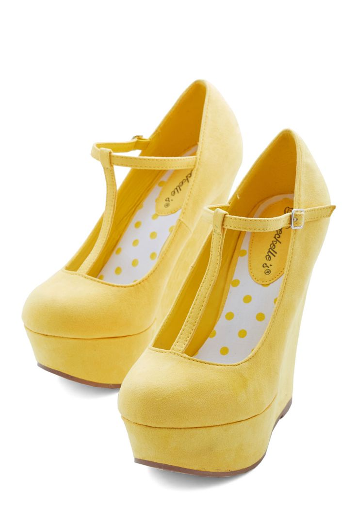 Yellow Wedge Heels TTD5nkCR