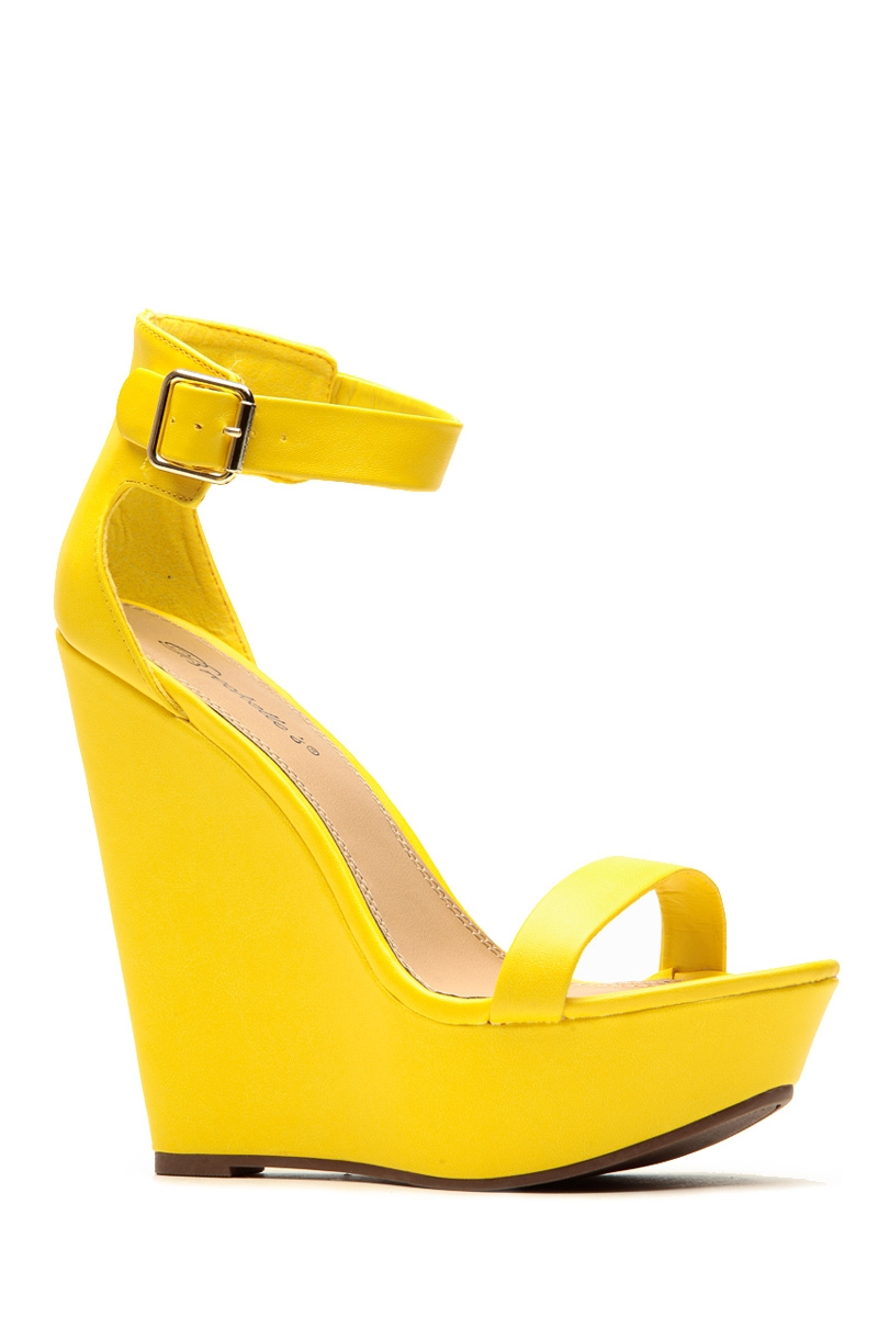 Yellow Wedge Heels BRGzchnl