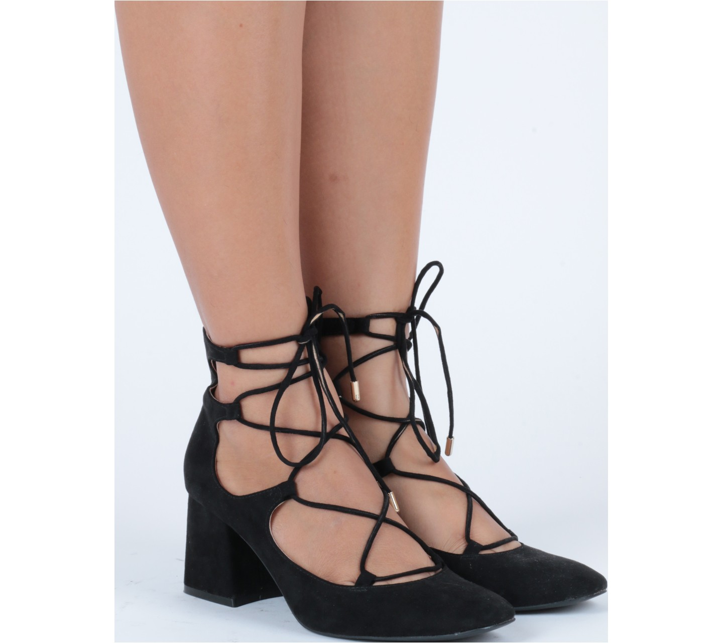 Zara Lace Up Heels fHgeOmdK