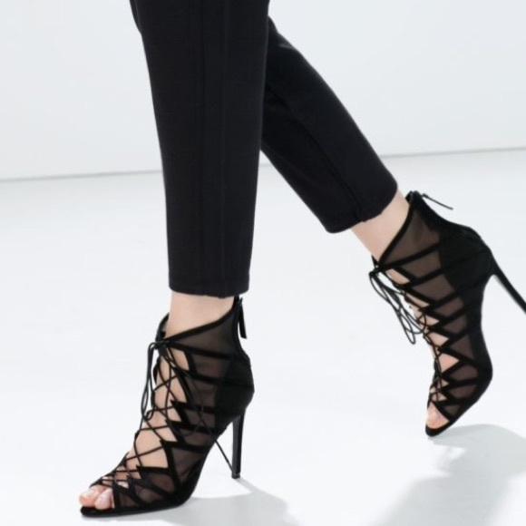 Zara Lace Up Heels ESJPlEDs
